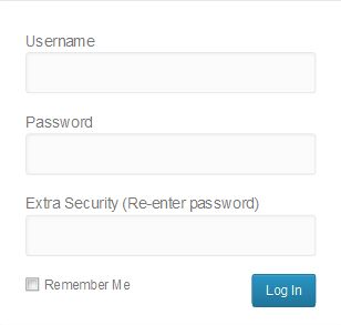 Login Form With Two Password Fields