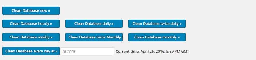 WordPress Database Cleaner Schedule